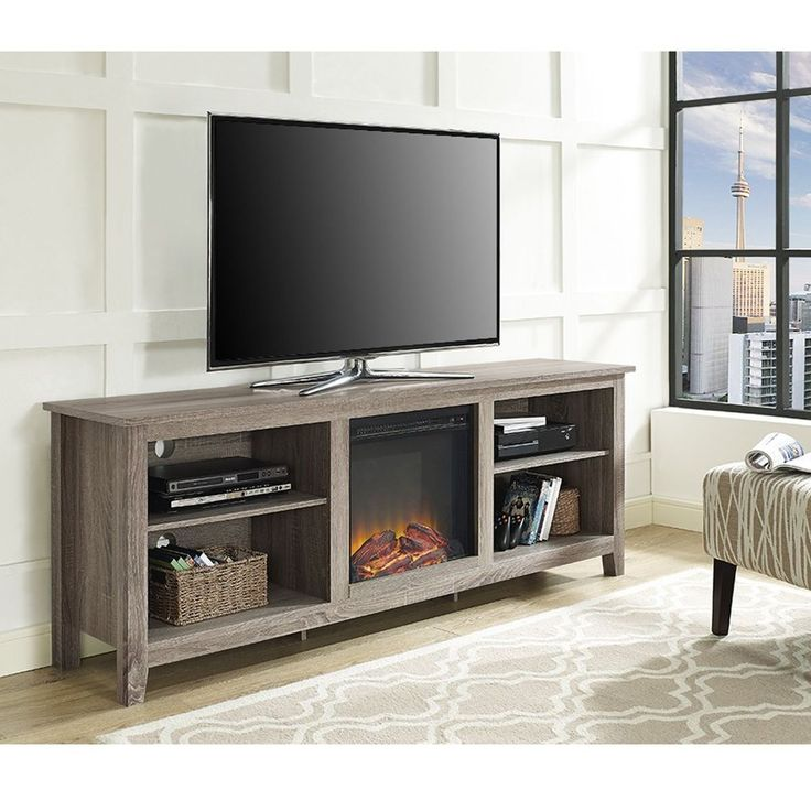Electric Fireplace tv console with electric fireplace : 30 best Electric fireplaces images on Pinterest