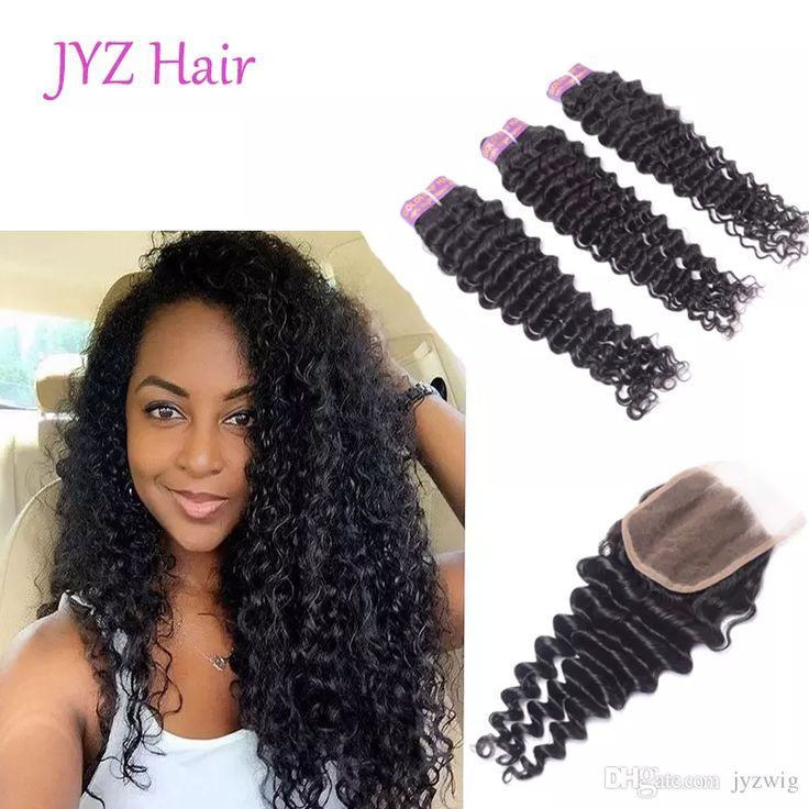 Peruvian Deep Wave With Closure 3 Bundles Peruvian Virgin Hair With Closure 7a Peruvian Curly Hair Human Hair With Closure  WhatsApp: +8617865631532 Email: jyzbeauty@126.com