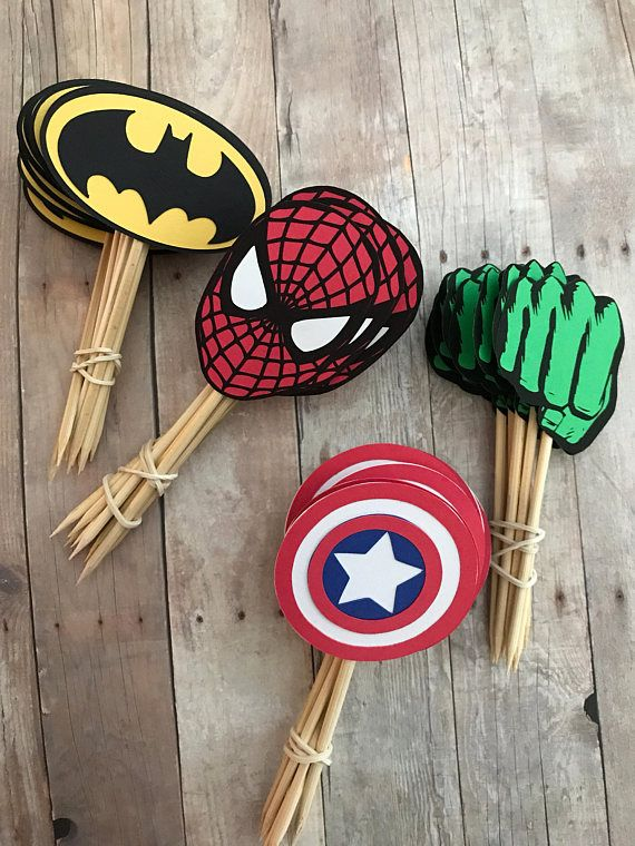 best 20  superhero cupcake toppers ideas on pinterest