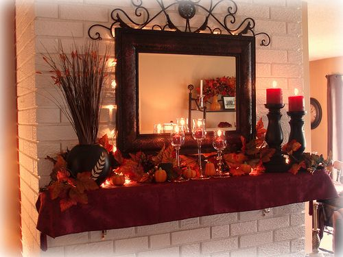40 delightful diy fall mantel decoration ideas - Beautiful Fall Mantle Fall Thanksgiving Decor
