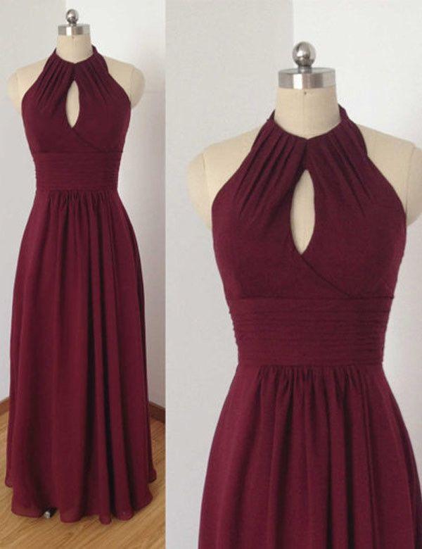 Simple Bridesmaid Dress,Halter Bridesmaid Dress,Pretty Bridesmaid Dress,Charming Bridesmaid dress ,PD123