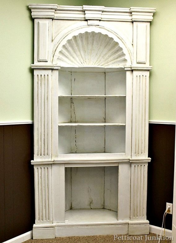 White Antiqued Cabinet- How To Antique Painted Furniture - 77 Best Farmhouse Corner Hutch Images On Pinterest Corner Hutch
