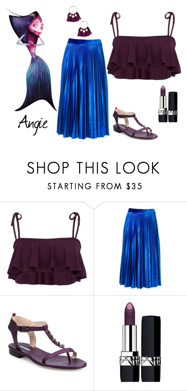 """""""Shark Tale"""" by sassyladies ❤ liked on Polyvore featuring Beth Richards, MSGM, SJP, Christian Dior and Ettika"""