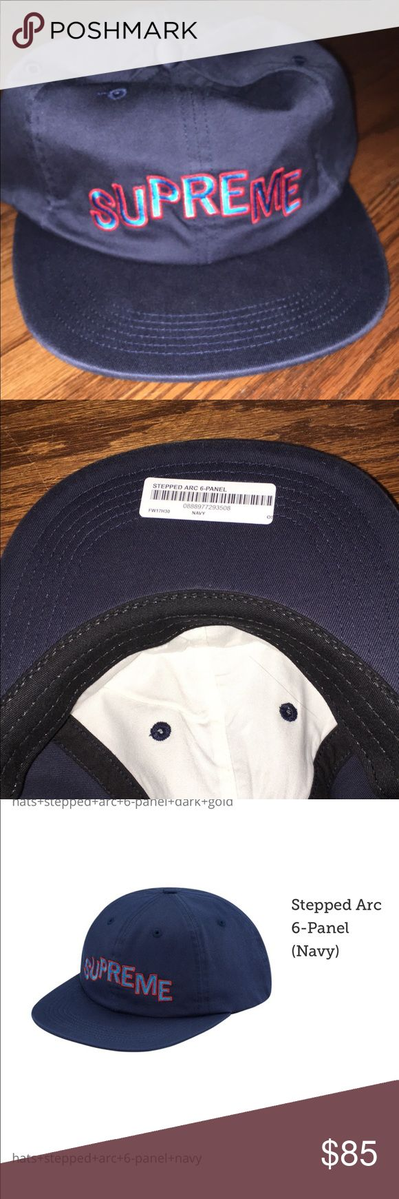 Supreme Hat Supreme stepped arc 6 panel in navy Supreme Other