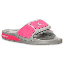 03fdd721910627 Girls Jordan Hydro 2 Slide Gym RedIon Pink Girls Jordan Sandals .. kid shoes  Jordan Hydro 3 Youth Slides Sandals GrayVivid Pink size NEW ...