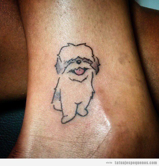 tatuaje-pequeno-perro-tobillo.jpg (640×670)
