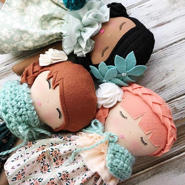 The beautiful Hello Ollie Collection for SpunCandy Dolls #africanamericandolls #restockjan7 #comingsoon #spuncandydolls #hsndmadedolls #handmadewithlove