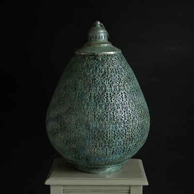Moroccan Filigree Hurricane Lantern (Candle holder)