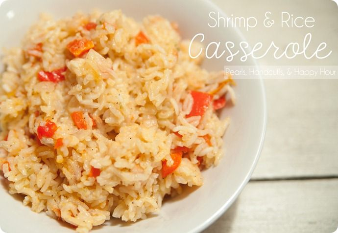 Shrimp and rice one dish casserole....I'm just gonna warn you….this will be tastiest, EASIEST meal you've ever tried {unless you've tried the other meals I claimed to be the easiest & tastiest ;)}