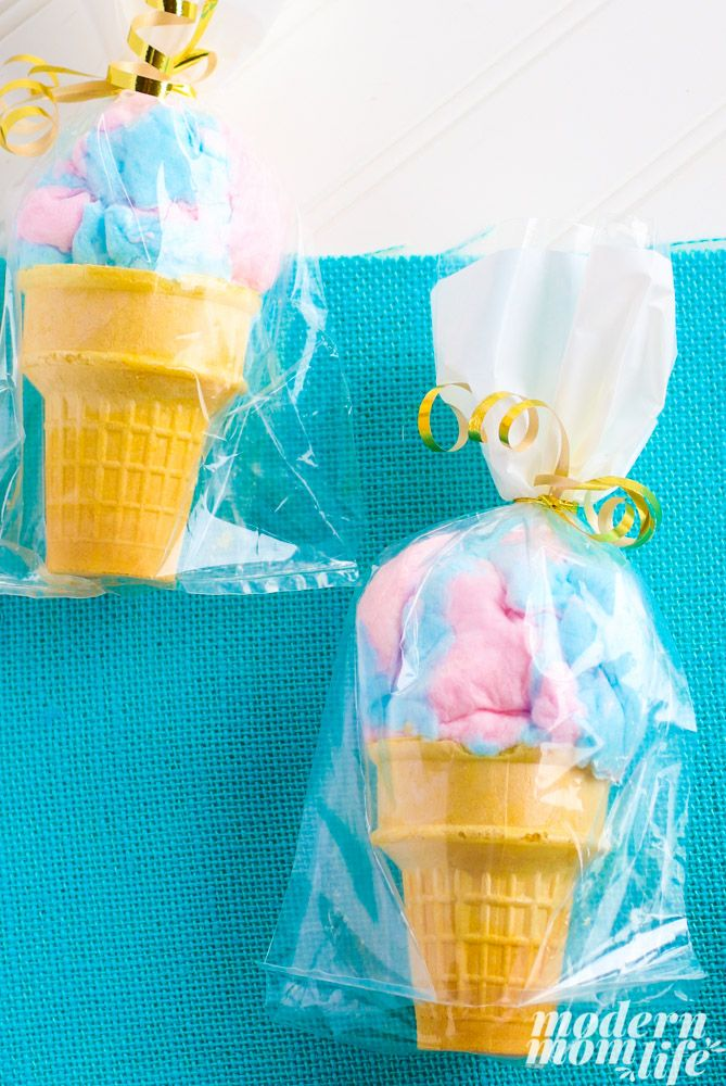 adorable cotton candy party favors