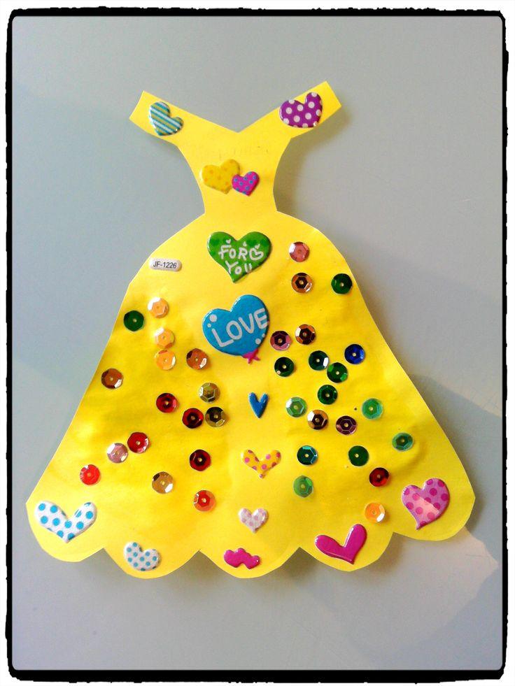 robe de princesse, robe de cendrillon, gommettes bricolage enfant