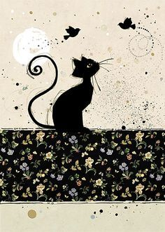 Chintz Cat - by Jane Crowther for Bug Art greeting cards.