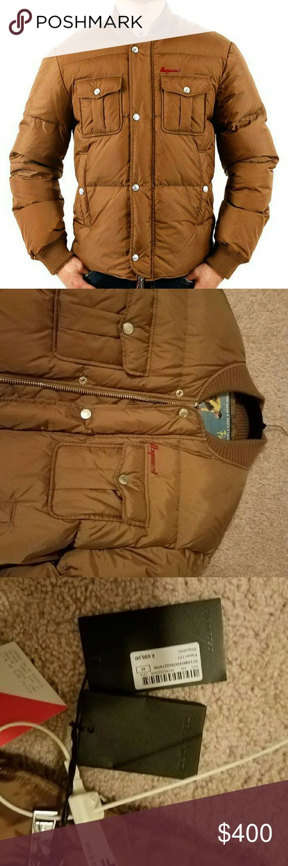 (New) Dsquared2 Padded Down Jacket Size 46 Never worn. Maintained in good quality. I was going to wear it but then I decided to buy a Moncler jacket and no longer need this one. Real down so keeping warmth is no worry. Still has price tags. No replica. DSQUARED Jackets & Coats