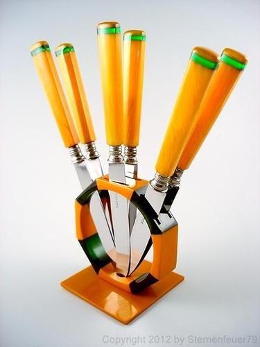 Art Deco Bakelite Fruit Knife Set