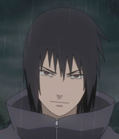 Look at his eyes he looks all evil! Itachi, set him straight!!!