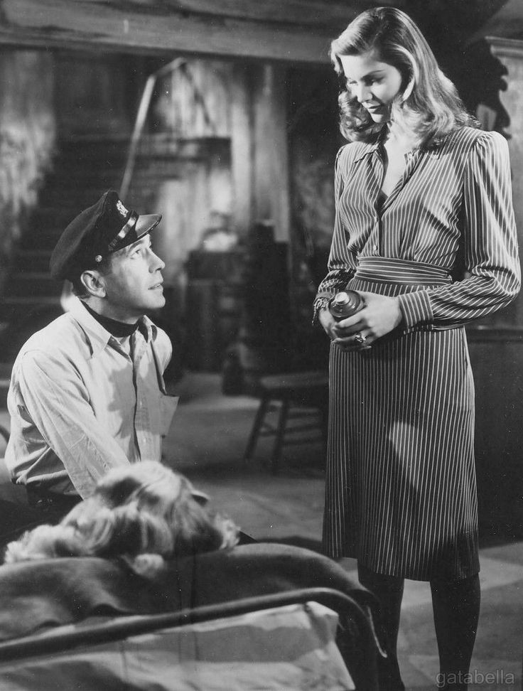 Lauren Bacall and Humphrey Bogart, To Have and Have Not, 1944