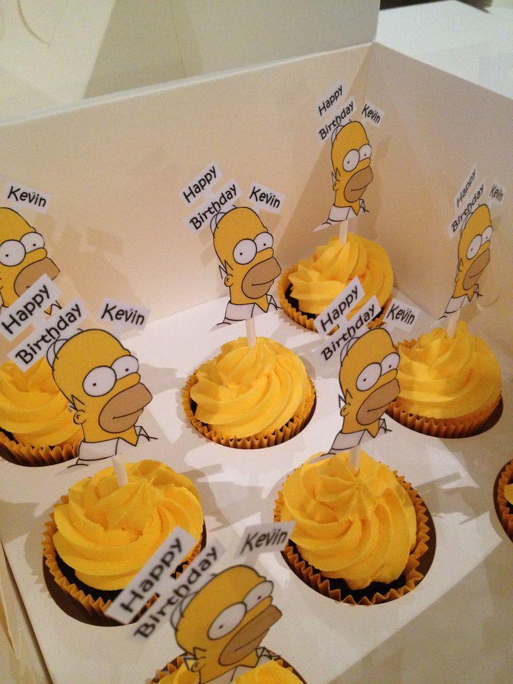 Homer cupcakes