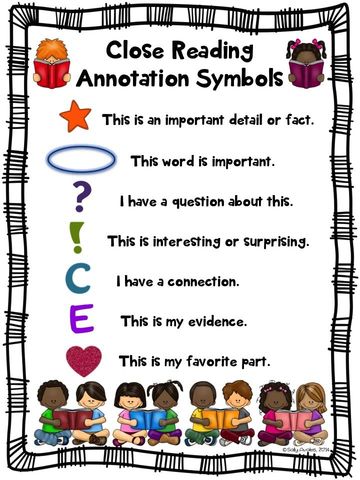 Start close reading with your back to school literature and informational text. These annotation symbol charts for close reading are a must to introduce/teach close reading! Includes 2 color and 2 blackline masters. You can use these as anchor charts, as posters, for centers, or in your students' close reading folders/notebooks.