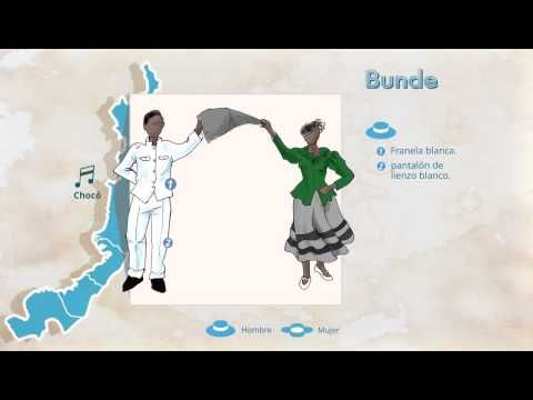 Trajes Típicos de Colombia, Bunde - YouTube