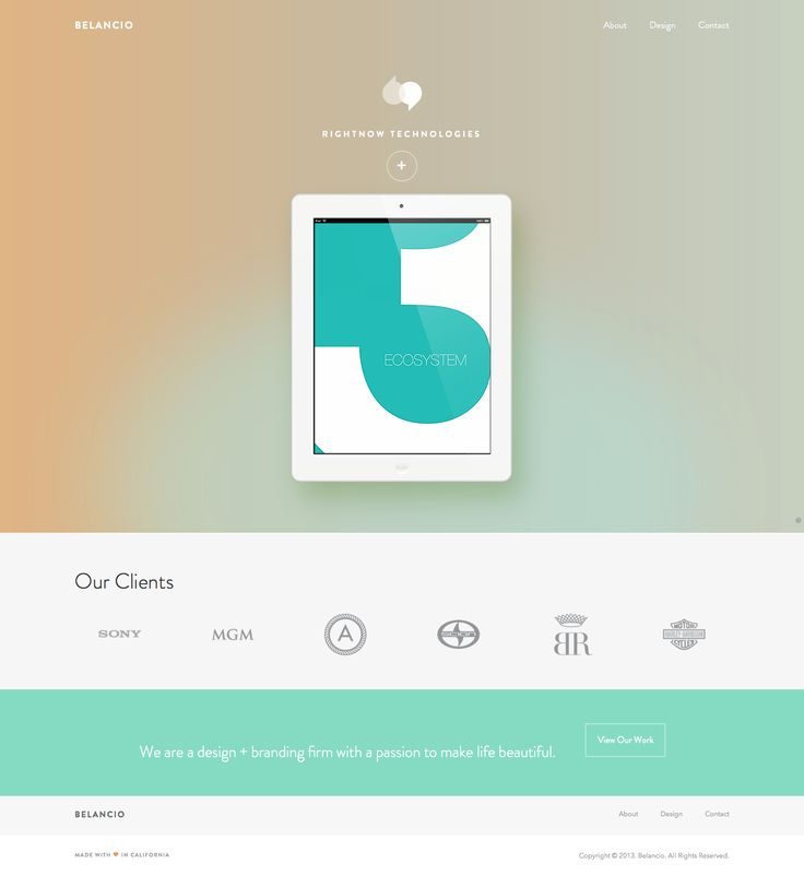 Belancio via inspihive | 12 Beautiful Examples of Flat UI Design