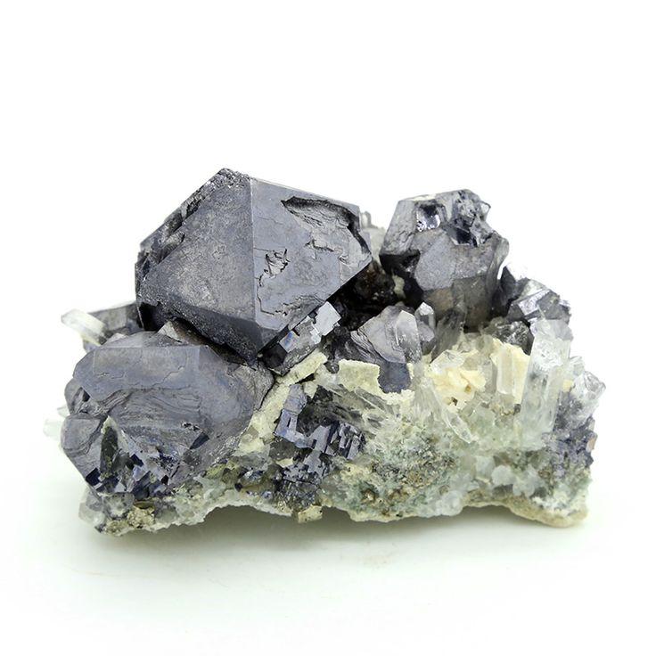 Galena Specimen With Quartz Crystals - 308g