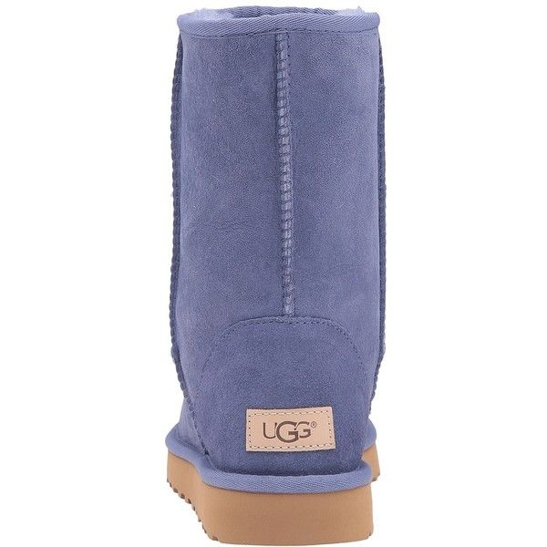 UGG Classic Short II (Pajama Blue) Women's Boots ($160) ❤ liked on Polyvore featuring intimates, hosiery, socks, ugg and ugg socks