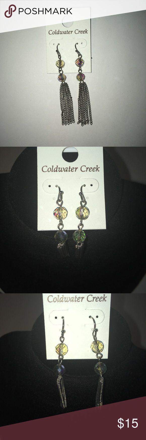 Coldwater Creek Earrings Coldwater Creek Crystaline Fringe Earrings  NWT Coldwater Creek Jewelry Earrings