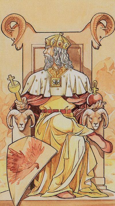 The Emperor - Lo Scarabeo Tarot.