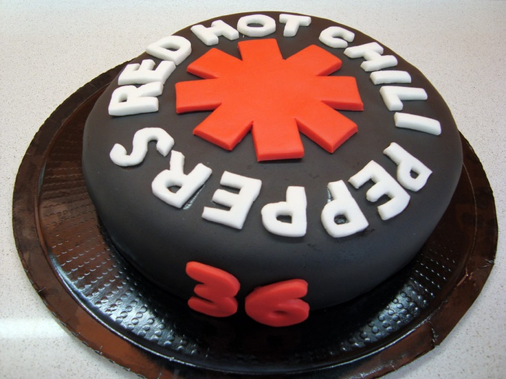 Red hot chili peppers cake www.facebook.com/aprilscake