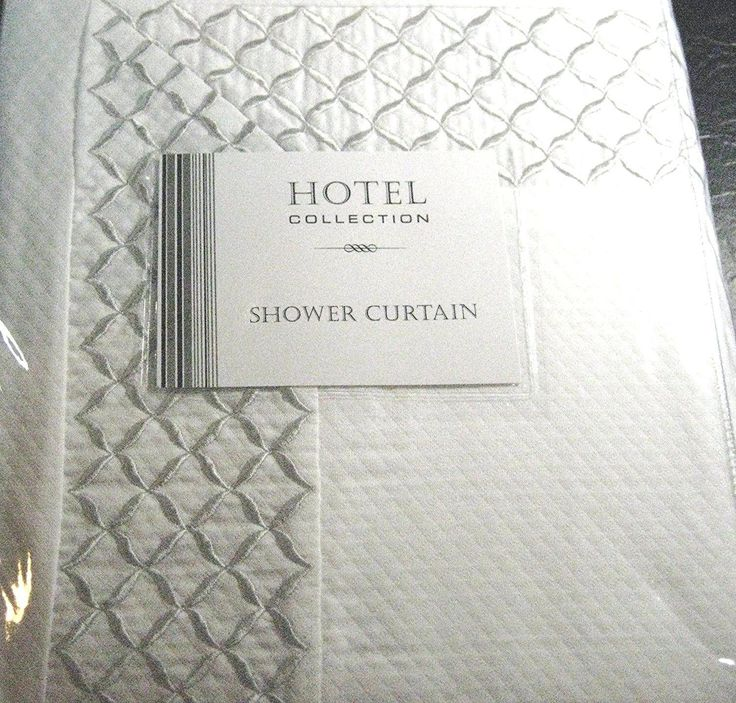 Awesome Hotel Collection Shower Curtain Lattice