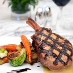 Roasted Pork Chop at Ziran's restaurant in Downtown Los Angeles! #la #food #foodie #LAhotel #porkchop #travel #restaurants