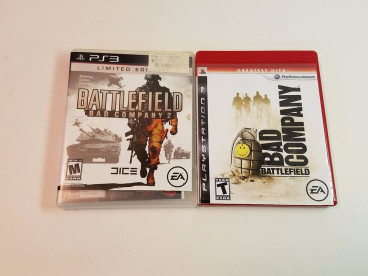 Sony PS3 PlayStation 3 Battlefield Bad Company 1 2 Limited Edition Complete Game