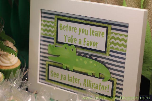 Artistic Anya Designs: Alligator Themed Baby Shower