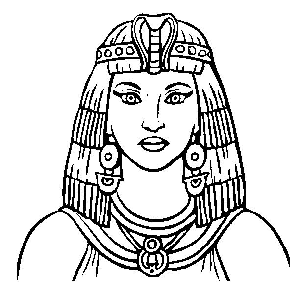 cleopatra egyptian coloring pages - photo#4