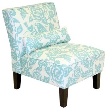 @Target  I need this for my bedroom!Living Rooms, Floral Prints, Slippers Chairs, Upholstered Chairs, Furniture, Blue Living Room, Armless Chairs, Accent Chairs, Robin Eggs Blue