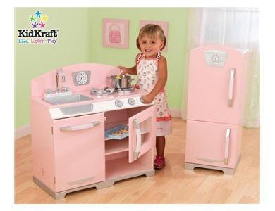 53160KidKraft Retro Kitchen Wooden Playset (Pink)