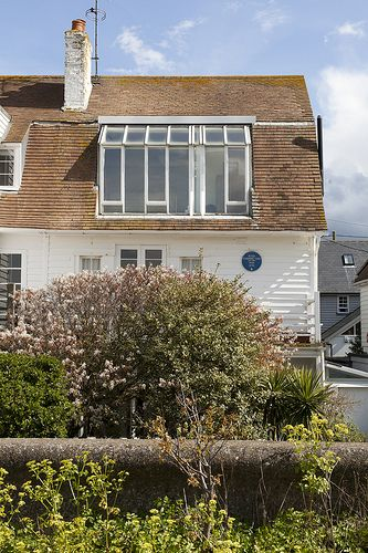 Whitstable Seafront, England. Peter Cushing's House.