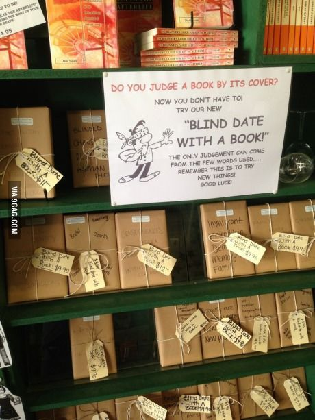 Do you judge a book by it's cover? This bookstore ensures you won't! This is such a great idea! This would be very cool if you had a book club and were choosing the next book.