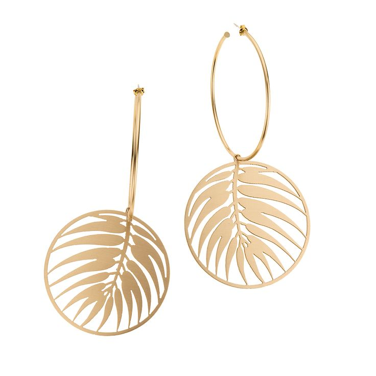 Livistona rotundifolia earrings from INSECTS collection by Anna Orska.