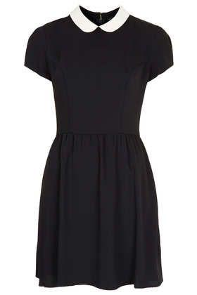 Topshop - contrast collar dress