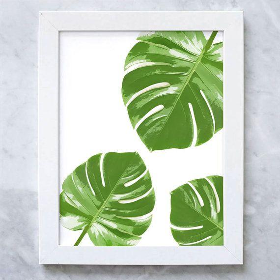 Tropical Palm Leaf Print  Palm Leaf Pattern por IllustrationsThings