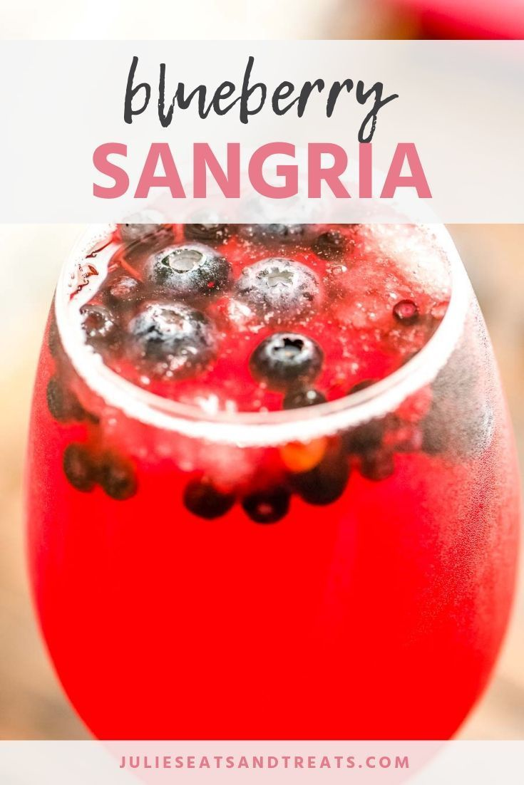 Blueberry Sangria Is A Delicious Fruity White Sangria Recipe It S Quick Easy And Delicious Perfe Blueberry Sangria Easy Sangria Recipes Pink Lemonade Recipes