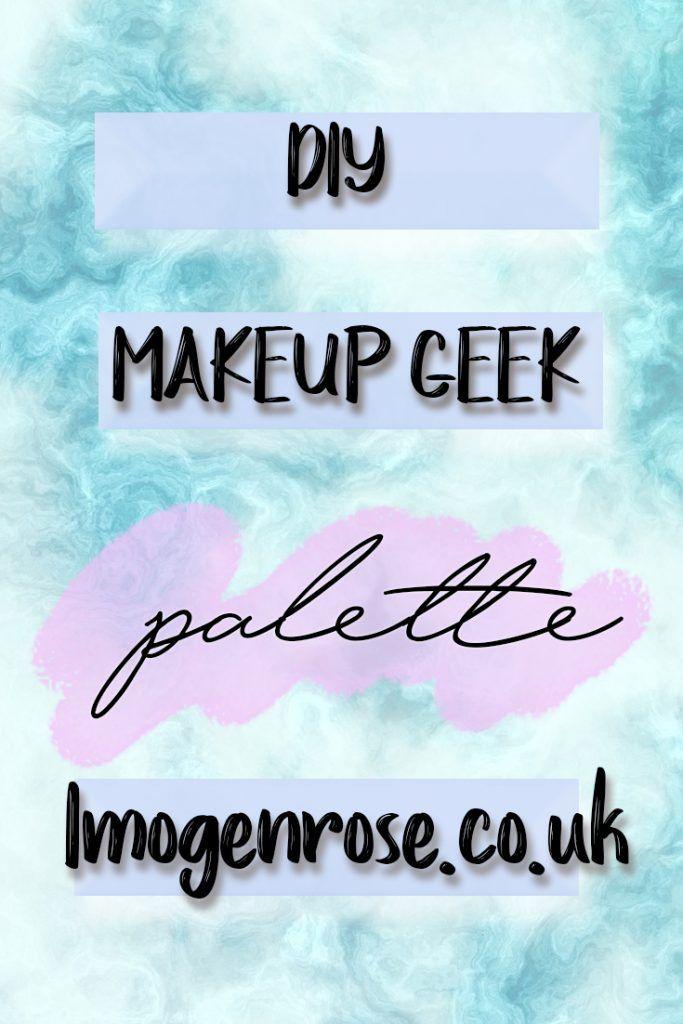 diy how to make a makeup geek palette
