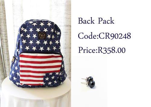 Buy Cotton Road back packs for R358.00