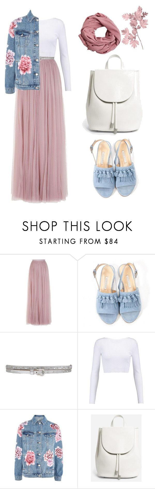 """""""Being covered"""" by lostuser ❤ liked on Polyvore featuring Needle & Thread, Bionda Castana, Twin-Set, Cushnie Et Ochs, Topshop, Everlane and MANGO"""