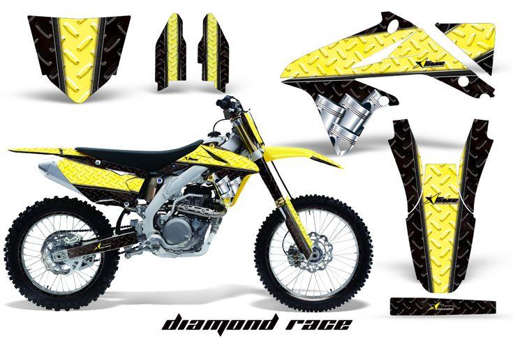 Suzuki Dirt Bike Graphic Kits for RMZ 450, RMZ 250, RM 125, RM 250, DRZ 400, RM 100, RM 85, RM 65, DRZ 110