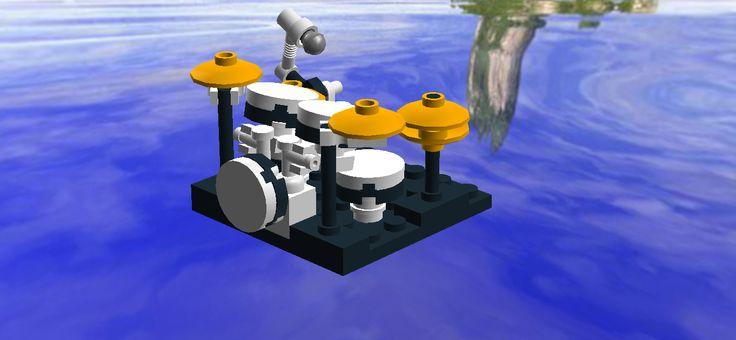 How To Build Lego Mini Drum set