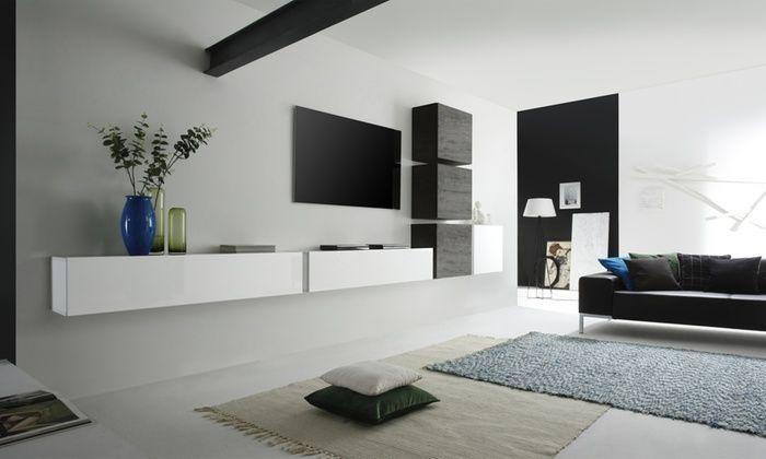 Parete Pensile Per Soggiorno 309 Groupon Soggiorno Bianco Salotto Grigio Idee Di Interior Design Soggiorno