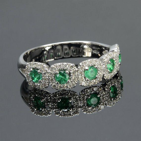 Emerald Cut Engagement Ring Emerald Diamond Gold Ring