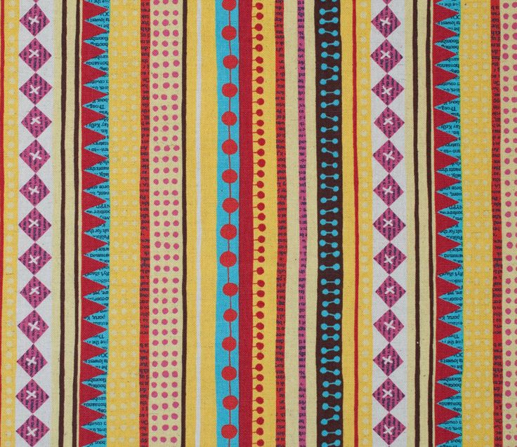 Stripes - Yellow - Nancy Wolff - Kokka | Fabric | Japanese Fabric | Maigo